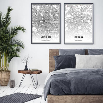 Stadt Poster - London Kartenposter / City Map