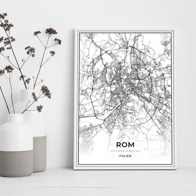 Stadt Poster - Rom Kartenposter / City Map