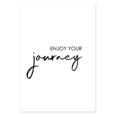 "Travel Poster - ""ENJOY YOUR JOURNEY""-Poster-DIE WELTKARTE"