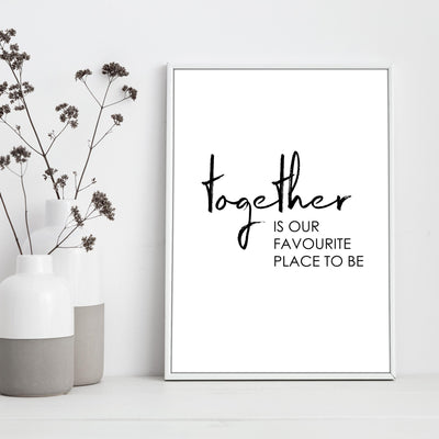 "Travel Poster - ""TOGETHER"""