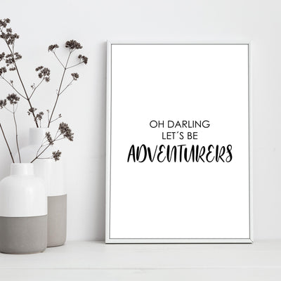 "Travel Poster - ""ADVENTURERS"""