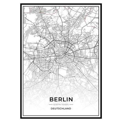Stadt Poster - Berlin Kartenposter / City Map