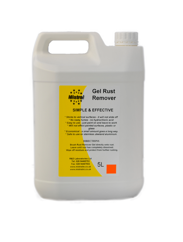 Gel Rust Remover - Thickened Phosphoric Acid Rust Remover - Test Store 1