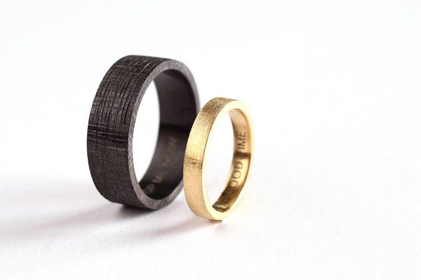 Zwart zirconium en fairtrade goud