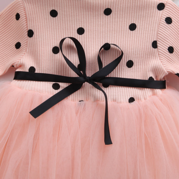 Polka Sweater Dress