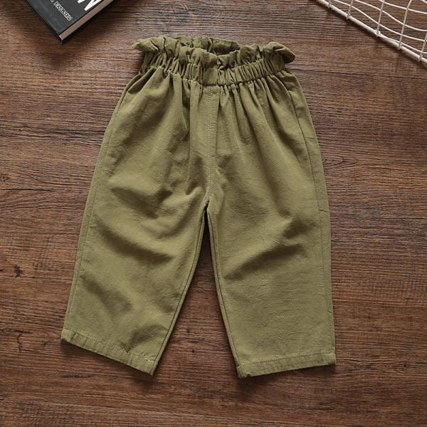 Girls Top Collar Pant Set