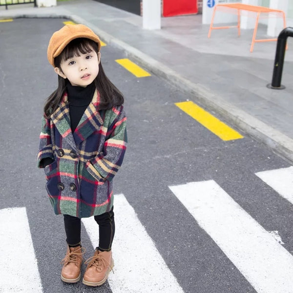 Plaid Warm Coat