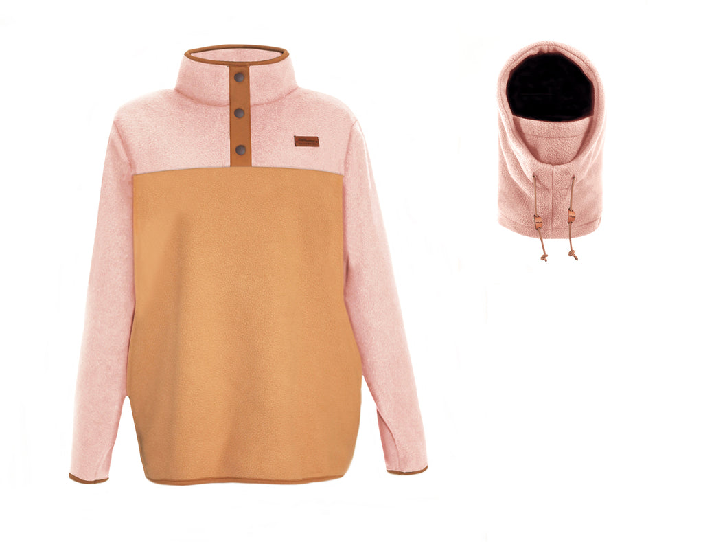 CANDY COMBO fleece + hood