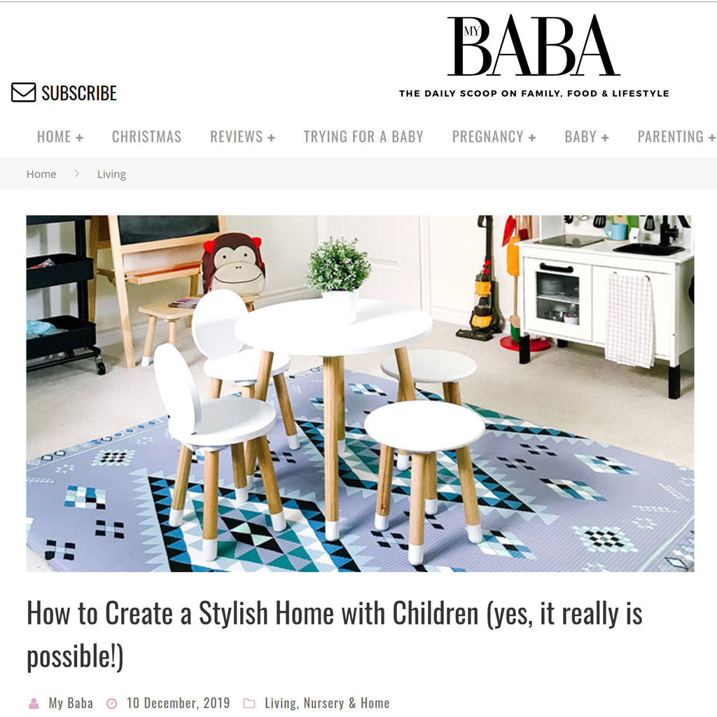 My Baba Feature - How to Create a Stylish Home with Children