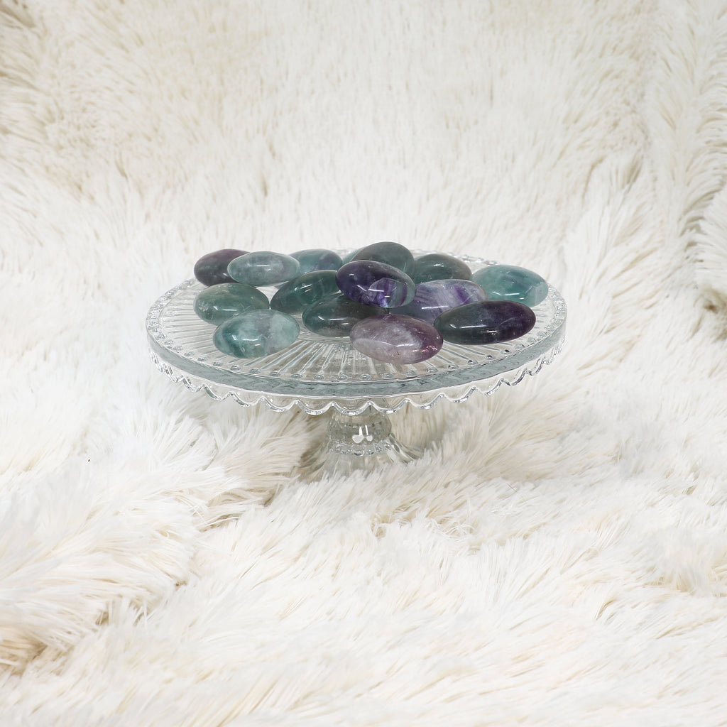 Rainbow Fluorite Small Palm Stone ✧ Pocket Protection