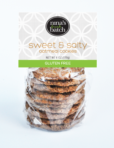 Gluten Free Salty Crunchy Oatmeal Cookies-Three Pack