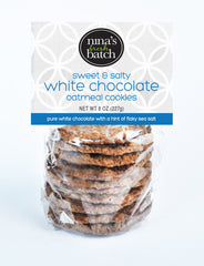 White Chocolate Sweet & Salty Oatmeal Cookies