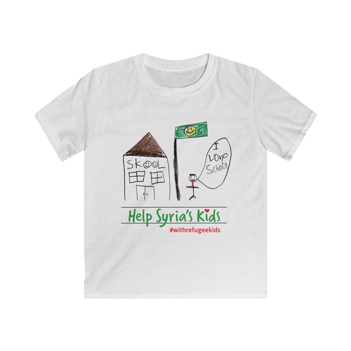 Kids Softstyle Tee - SKOOL #withrefugeekids