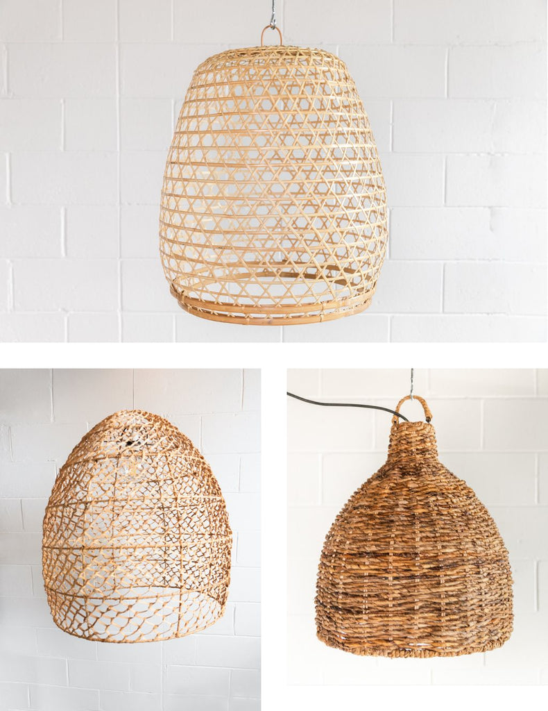 collection of woven pendants
