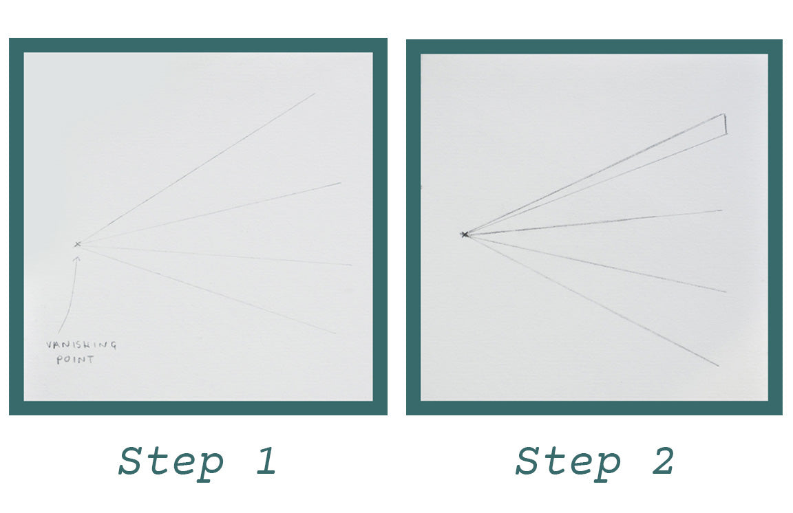 Step by Step Drawing Instructions for the Pont des Arts