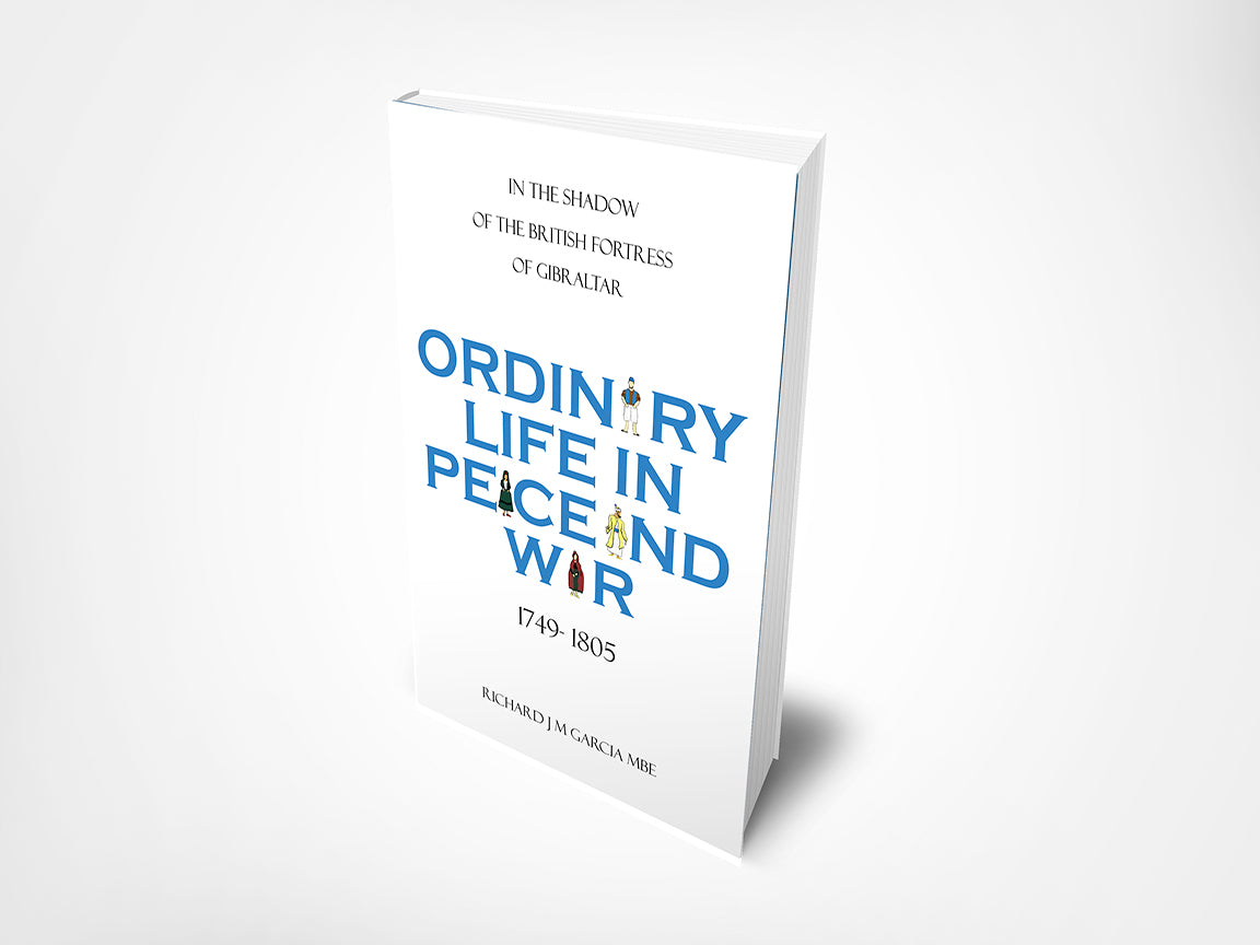 Book cover for Ordinary Life in Peace and War by Richard Garcia MBE