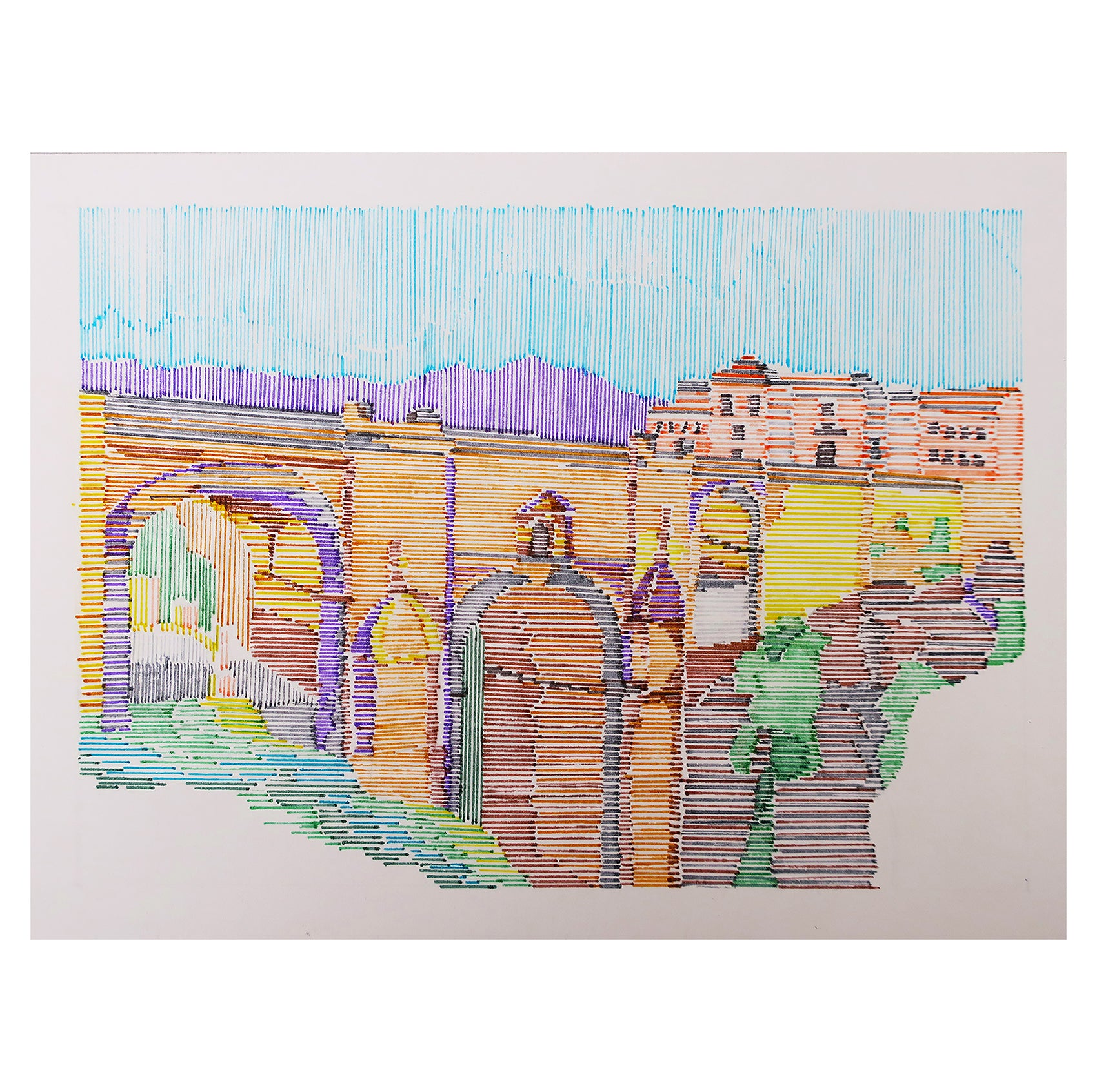 Ronda Puente Antiguo Illustration