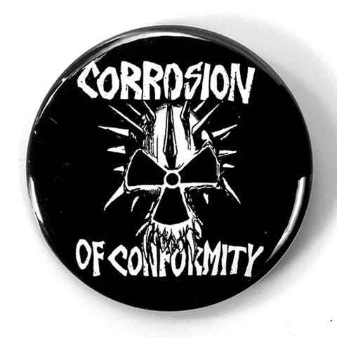 "Corrosion of Conformity ""Logo"" Black (1"" or 2.25"" Pin)"