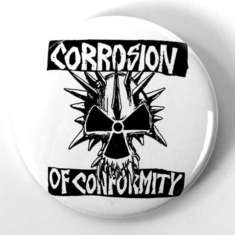 "Corrosion of Conformity ""Logo"" White (1"" or 2.25"" Pin)"