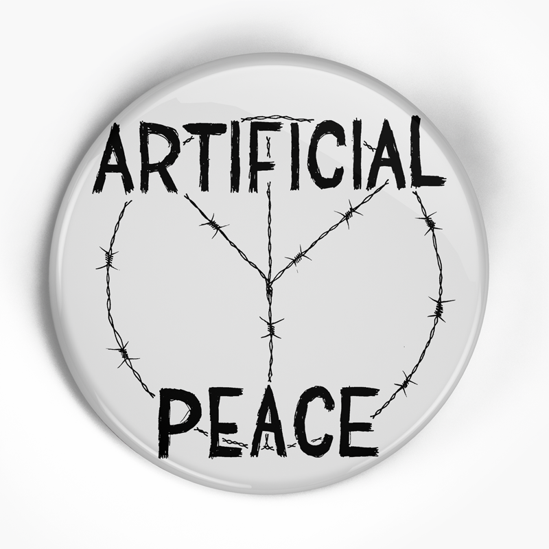 "Artificial Peace ""Logo"" (1"", 1.25"", or 2.25"") Pin"