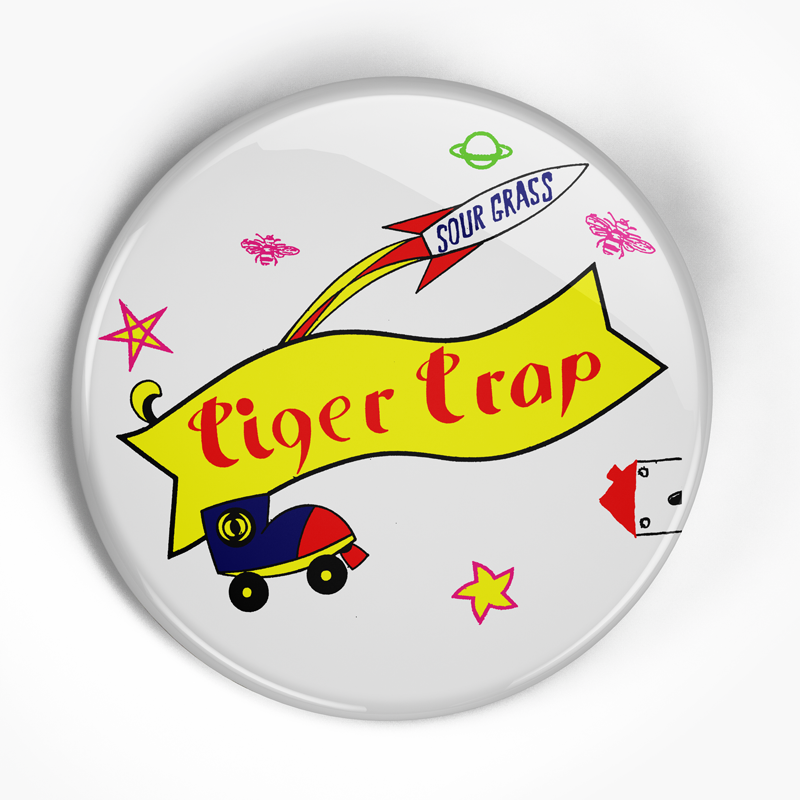 "Tiger Trap ""Sour Grass"" (1"", 1.25"", or 2.25"") Pin"