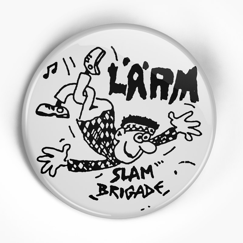 "Larm ""Slam Brigade"" (1"", 1.25"", or 2.25"") Pin"