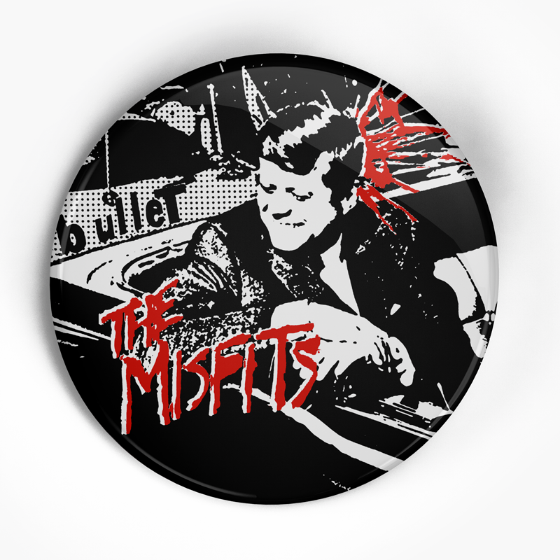 "Misfits ""Bullet Front"" (1"", 1.25"", or 2.25"") Pin"