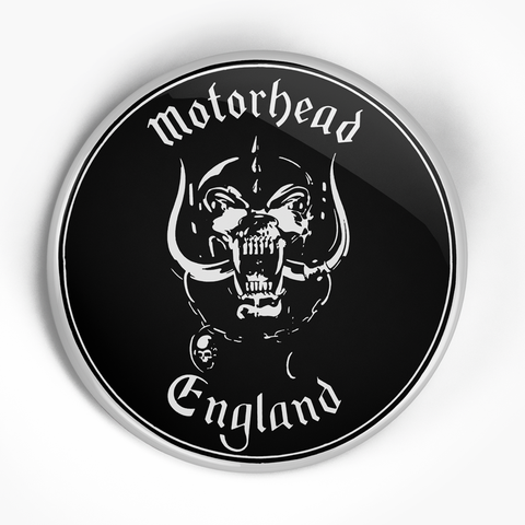 "Motorhead ""England"" (1"", 1.25"", or 2.25"") Pin"