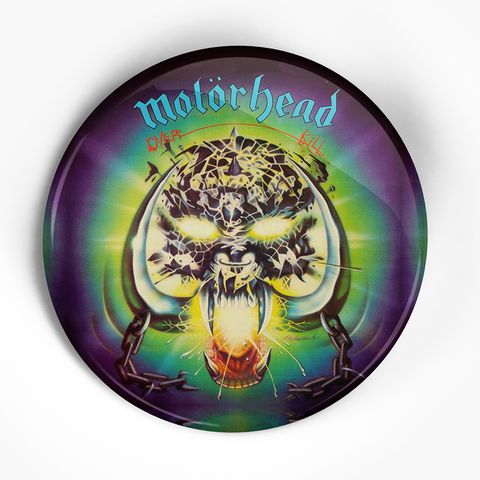 "Motorhead ""Overkill"" (1"", 1.25"", or 2.25"") Pin"