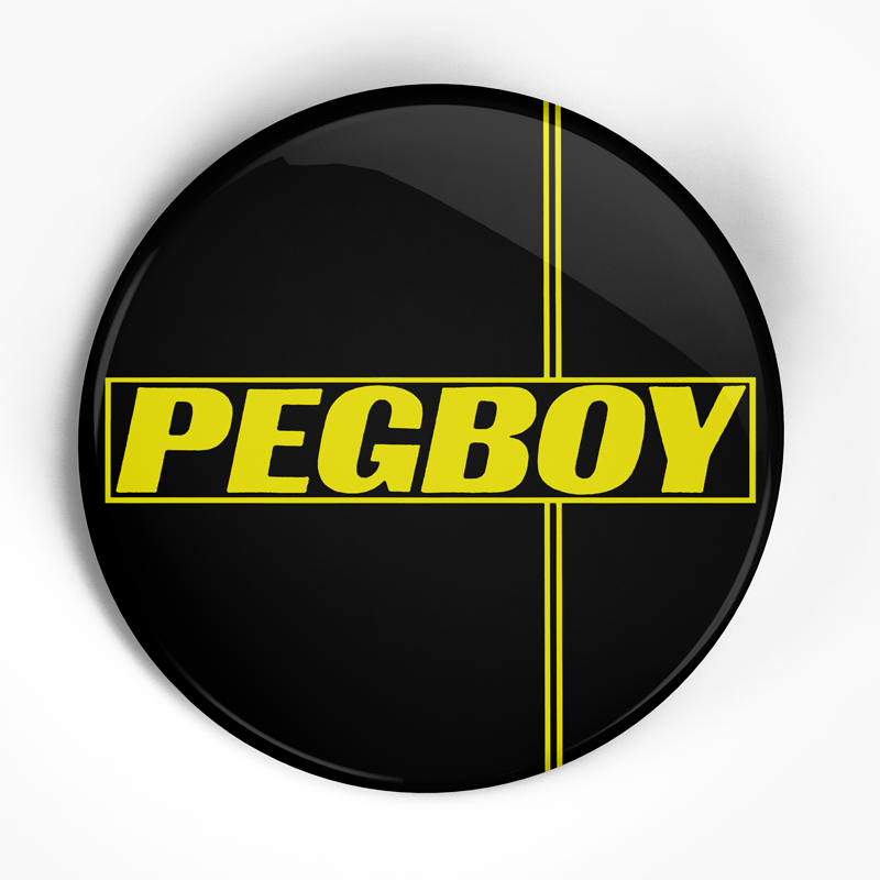 "Pegboy ""Yellow"" (1"", 1.25"", or 2.25"") Pin"