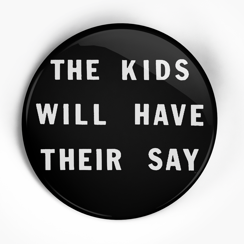 "SSD ""Kids Text"" (1"", 1.25"", or 2.25"") Pin"