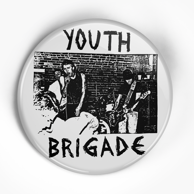 "Youth Brigade ""Flex Your Head"" (1"", 1.25"", or 2.25"") Pin"