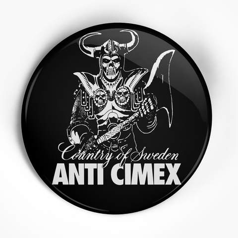 "Anti-Cimex ""Country of Sweden"" (1"", 1.25"", or 2.25"") Pin"