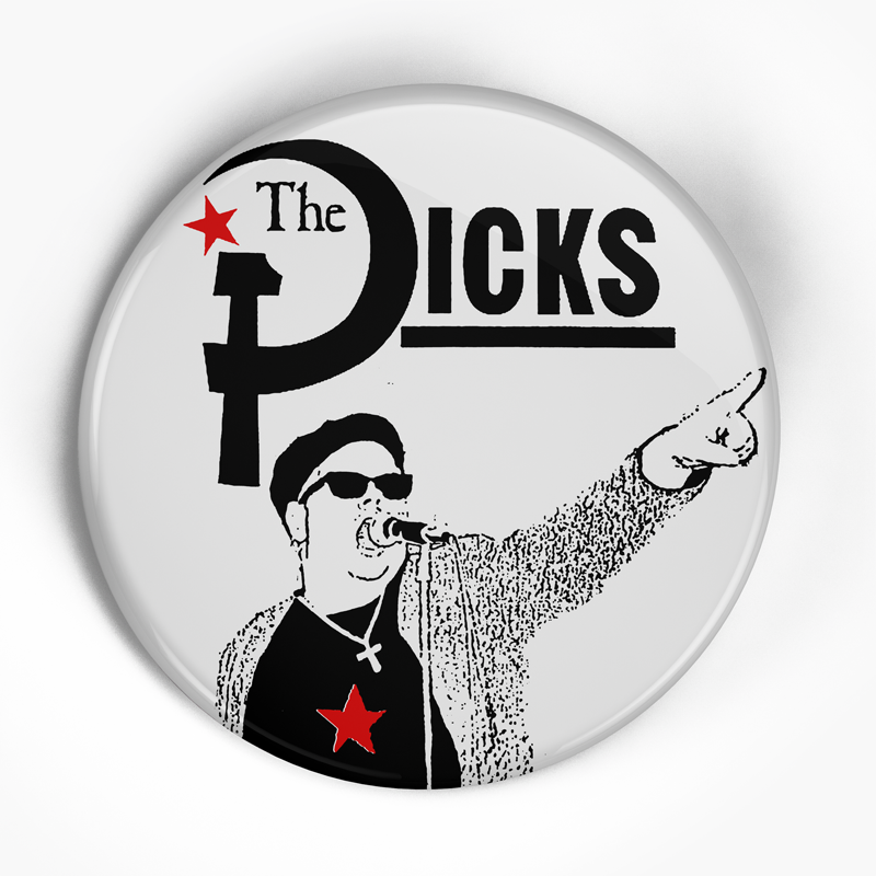 "Dicks ""Hate the Police"" (1"", 1.25"", or 2.25"") Pin"