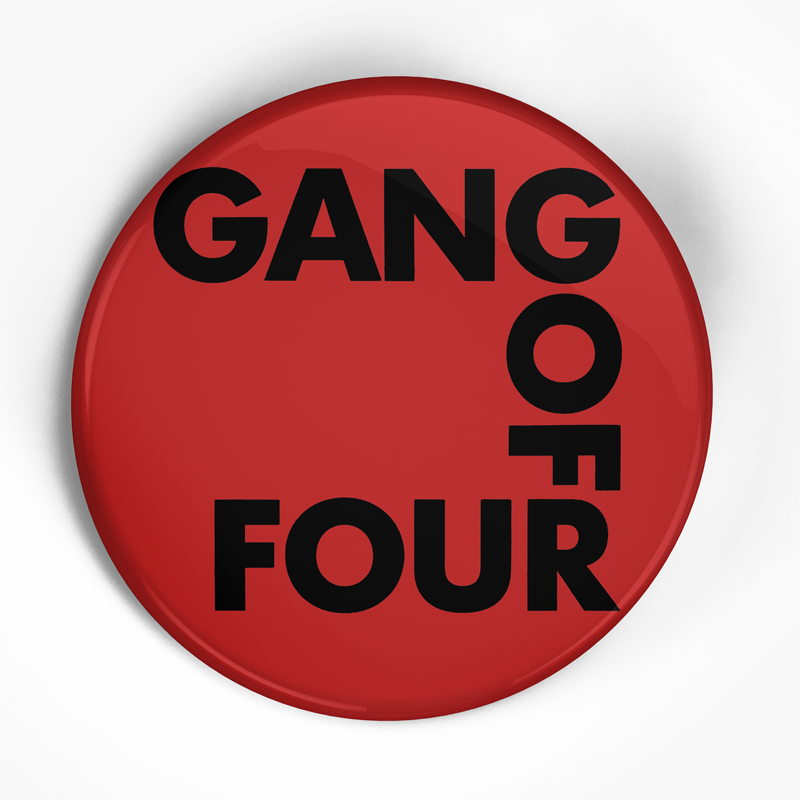 "Gang of Four ""Damaged Gods"" (1"", 1.25"", or 2.25"") Pin"