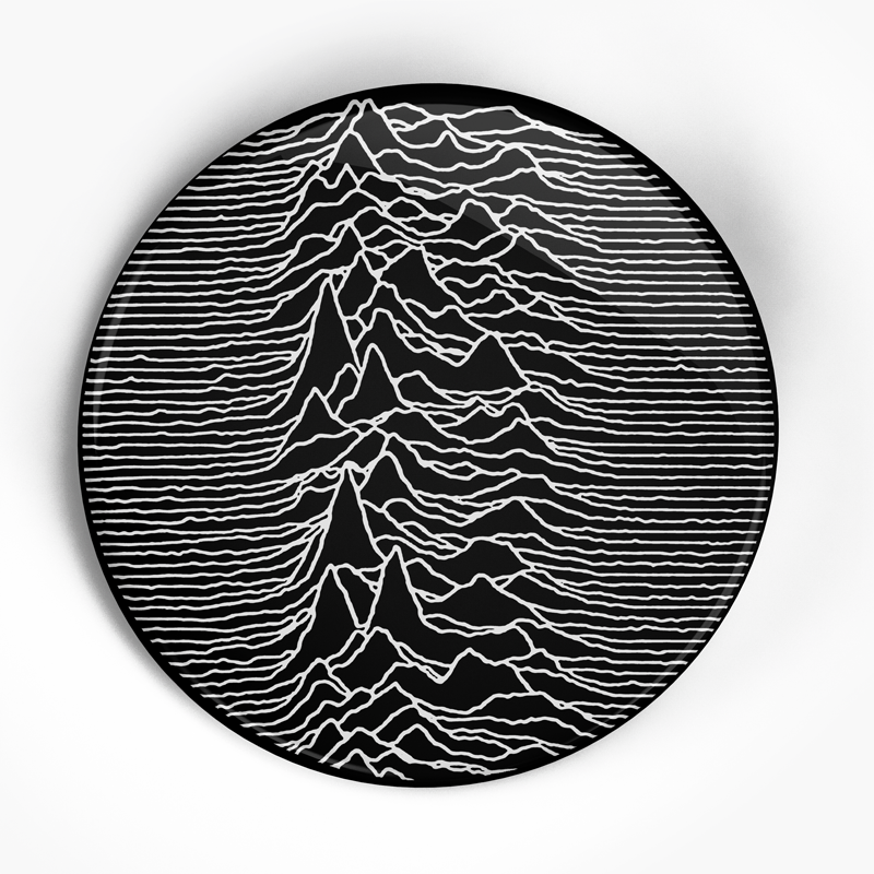 "Joy Division ""Unknown Pleasures"" (1"", 1.25"", or 2.25"") Pin"