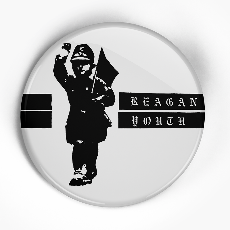 "Reagan Youth ""Strip Logo"" (1"", 1.25"", or 2.25"") Pin"