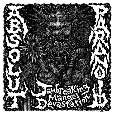 "ABSOLUT / PARANOID ""Jawbreaking Mangel Devastation"" Split LP"