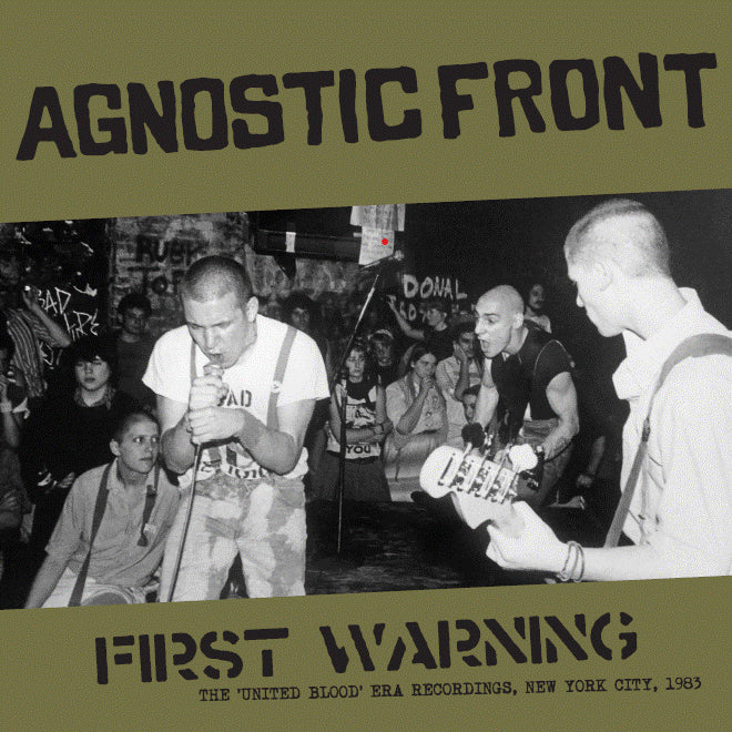 "AGNOSTIC FRONT ""First Warning: The United Blood Era Recordings"" LP"