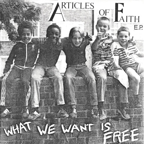 "ARTICLES OF FAITH ""What We Want is Free"" 7"""