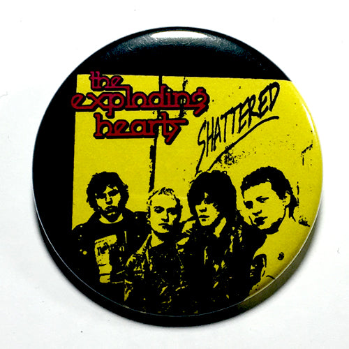 "Exploding Hearts ""Shattered"" (1"", 1.25"", or 2.25"") Pin"