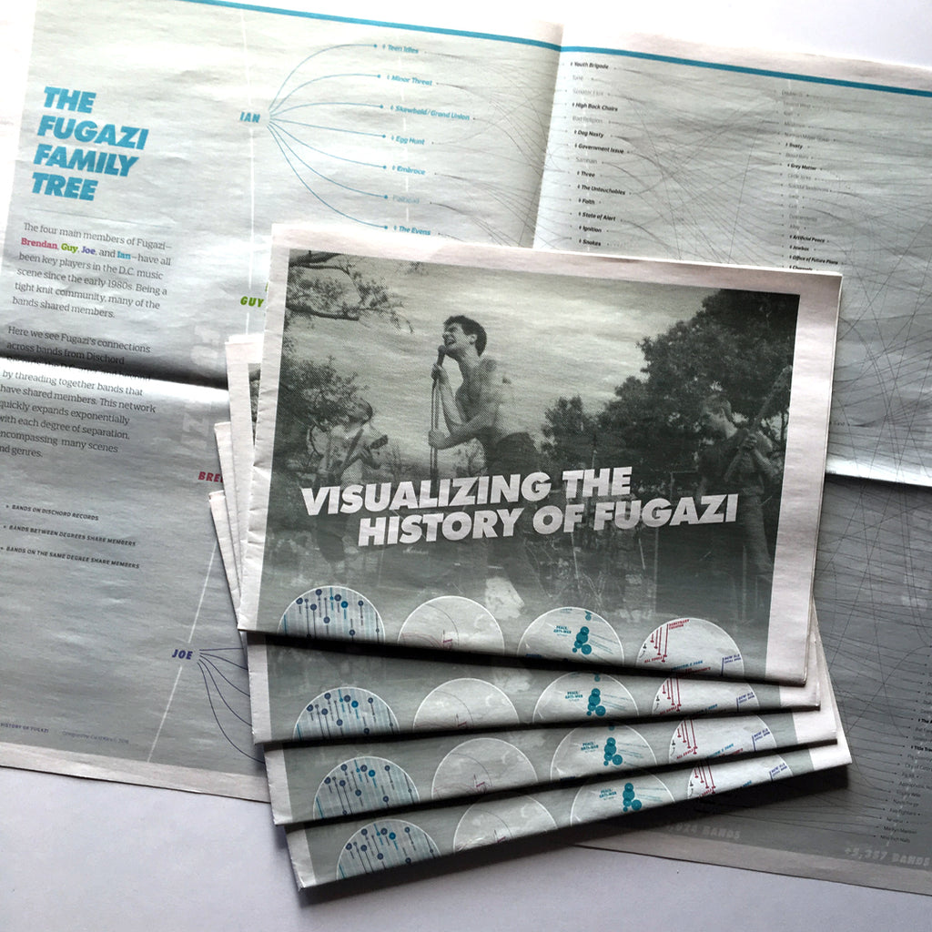 """Visualizing the History of FUGAZI"" Zine by Carni Klirs"