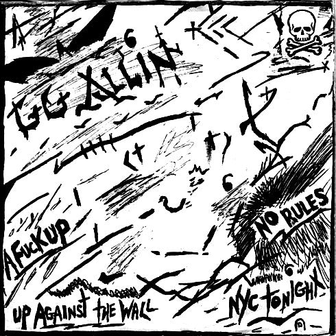 "GG ALLIN AND THE JABBERS ""No Rules"" 7"""