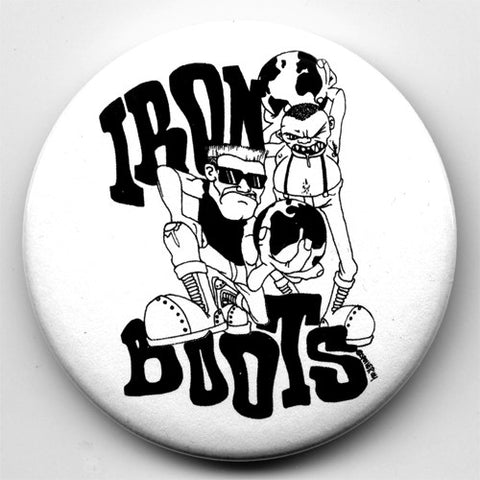 "IRON BOOTS ""Spoiler"" 1"" or 2.25"" Pin"