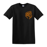 "IRON BOOTS ""Chain Logo"" 2-Sided T-shirt / Orange on Black"