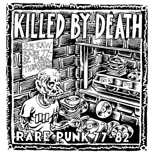 "V/A ""KILLED BY DEATH Vol. 1: Rare Punk 77-82"" Compilation LP"
