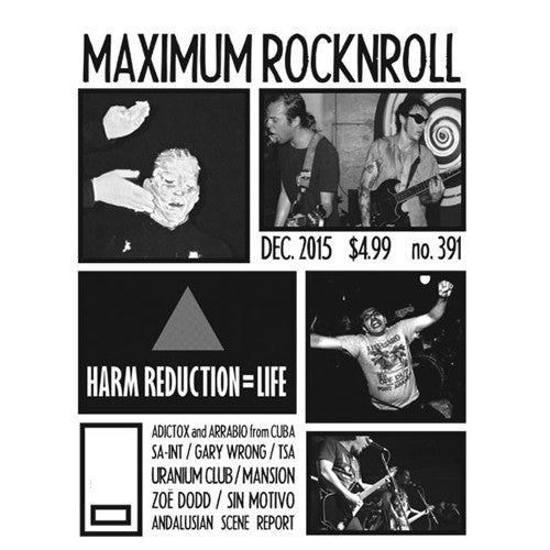 MAXIMUMROCKNROLL #391 - Dec. 2015