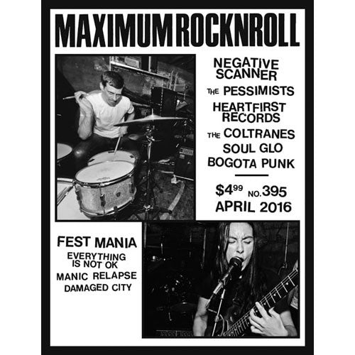 MAXIMUMROCKNROLL #395 - Apr. 2016