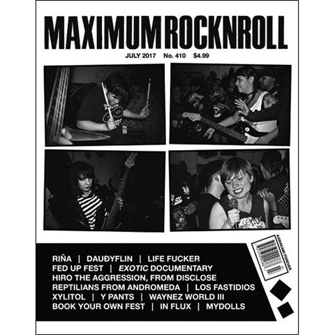 MAXIMUM ROCKNROLL #410 - July 2017