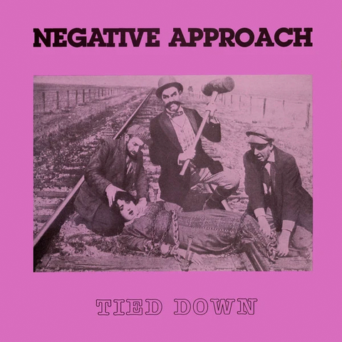 "NEGATIVE APPROACH ""Tied Down"" LP (Purple Vinyl)"